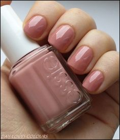 Nail color by essie: eternal optimist. Quiet but pretty. (Too quiet for toes!)