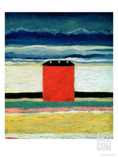 Red House, 1932 Giclee Print by Kasimir Malevich at Art.com, $99.99