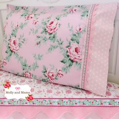 Use this tutorial to sew a simple pillowcase or pillow sham and add lace, ric rac and other pretty trims. Easy to follow, lots of photos! Simple.