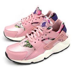 best loved 39437 8f828 NIKE Wmns Womens Air Huarache Run Print Aloha Pack Pink White Shoes  725076-600  Nike  AuthenticSneaker