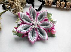 Kanzashi hair clip/Kanzashi flower/Hair clip for от AirinFlowers