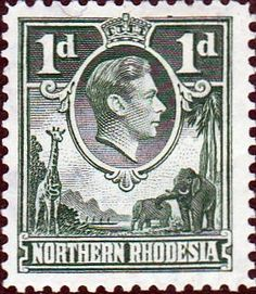 Northern Rhodesia 1938 Animals SG 28 Fine Mint SG 28 Scott 28 More British Commonwealth Empire and Colonial Stamps Here