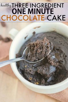 THREE Ingredient Flourless Chocolate Cake which takes ONE minute ...
