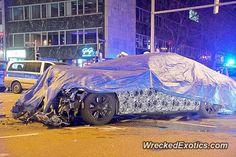 BMW 7-Series Spycar crashed in Stuttgart Germany Theodor-Heuss-Straße