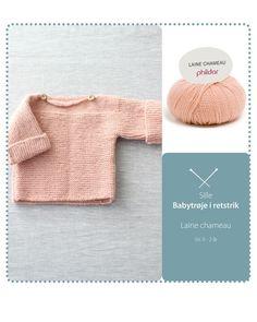 Babytrøje i retstrik