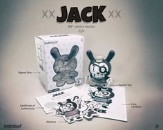 "Shiffa's AP(artist proof) ""JACK"" Kidrobot Dunny release announced!"