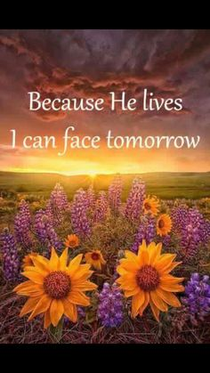 Because he lives, I can face tomorrow. Bible Verses Quotes, Bible Scriptures, Bible Quotations, Religious Quotes, Spiritual Quotes, Because He Lives, Gods Grace, Names Of Jesus, Jesus Sayings