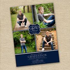 Elegant Photo Graduation Announcement or Party Invitation - Printable