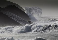 Clive Symm's photo cornish secret spot, looks like surfing on another planet!