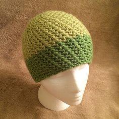Ravelry: Modified V-Stitch Women's Beanie pattern by Amanda @TheRKCrochet