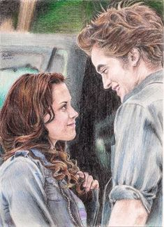 A Picture where Kristine Stewart actually shows some emotion! Good Morning, Angel Stunning Colored Pencil Art Drawings of Cute Celebrities Twilight Movie, Twilight Saga, Twilight Videos, Pencil Art Drawings, Drawing Sketches, Drawing Drawing, Drawing Ideas, Celebrity Drawings, Drawings Of Celebrities