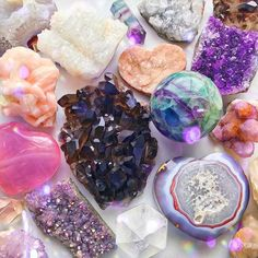 Flash Sale just went live in my story - featuring all the crystals here! Which one are you drawn to? That Agate heart in the bottom right… Chakra Crystals, Crystals Minerals, Rocks And Minerals, Crystals And Gemstones, Stones And Crystals, Crystals For Sale, Goddess Provisions, Crystal Aesthetic, Crystal Magic