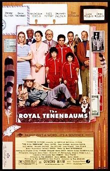 The Royal Tenenbaums Theatrical release poster //  Directed by	Wes Anderson  Produced by	Wes Anderson  Barry Mendel  Scott Rudin  Owen Wilson  Written by	Wes Anderson  Owen Wilson  Narrated by	Alec Baldwin  Starring	Gene Hackman  Anjelica Huston  Gwyneth Paltrow  Ben Stiller  Luke Wilson  Owen Wilson  Danny Glover  Bill Murray  Music by	Mark Mothersbaugh  Cinematography	Robert Yeoman  Editing by	Dylan Tichenor  Release date(s)	  December 14, 2001 (U