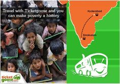 Contribute to the underprivileged when you book tickets with ticketgoose.com
