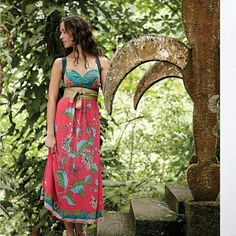 Anthropologie Equinox Calling Silk Maxi Dress Sz 8 Stunning in person! Very rare! Straps cross in the back, smocked back, amazing prints, side zip, excellent condition! Will take less on eBay Anthropologie Dresses Maxi