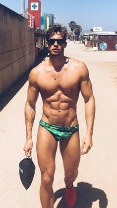 Sexy cowboy guy with perfect body wanking
