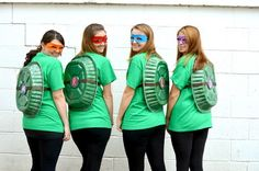 TMNT Party - DIY Turtle Shells