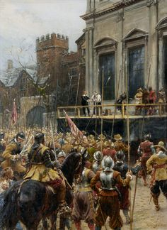 Whitehall Jan 30 1649- the execution of King Charles I- by Ernest Crofts