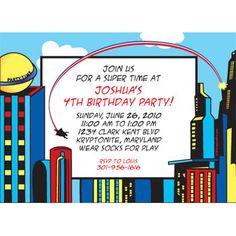 Superhero Personalized Invitation
