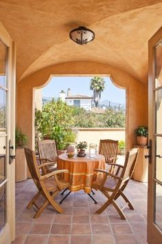 Patio Tuscan Style Floors Design, Pictures, Remodel, Decor and Ideas