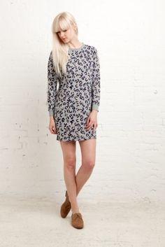 APC Leopard Print Dress.. i loooove her hair <3!!