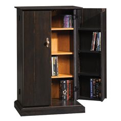 Sauder Office Furniture Sauder Office Antiqued Black Media Storage Cabinet!