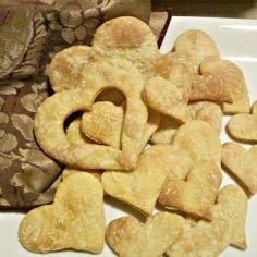 Heart Shaped Parmesan Crackers