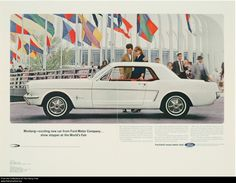 1964-1/2 Ford Mustang coupe advertisement