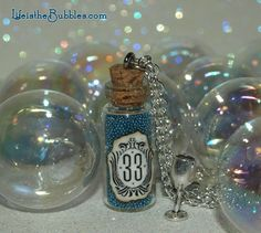 Disneyland Magical Club 33 Necklace with a Silver Chalice Charm by Life is Bubbles Perfect Christmas Gift