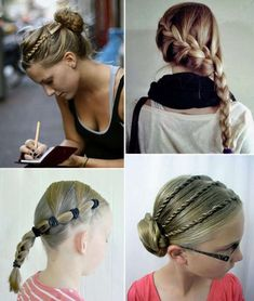 75 Easy and Fast School Hairstyles Step by Step - Trendy Queen : Leading Magazine for Today's women, Explore daily Fashion, Beauty & Lifestyle Tips Hairstyles For School, Ponytail Hairstyles, Pretty Hairstyles, Girl Hairstyles, Fast Hairstyles, Hair A, Wavy Hair, Hair Strand, Pompadour
