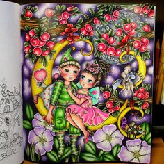 Adult Coloring, Coloring Books, Coloring Pages, Colorful Drawings, Art Drawings, Markova, Coloring Tutorial, Color Pencil Art, Whimsical Art