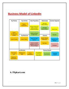 12 | P a g e Business Model of LinkedIn 6. Flipkart.com Business Model Canvas Examples, Business Canvas, Linkedin Website, Linkedin Business, Value Proposition, Bar Chart, Activities, Entrepreneurship, Printables