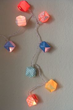 diy lichterkette origami