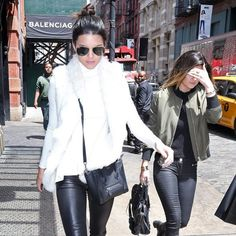 The two sisters hit the Big Apple the day after the Met Gala.
