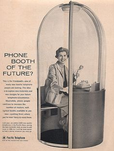Vintage Phone Booth Of The Future
