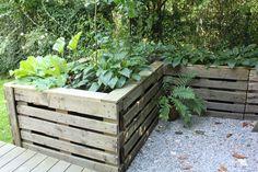 Bepflanzter zaun aus euro paletten gr nzeuch pinterest suche - Fotowand paletten ...