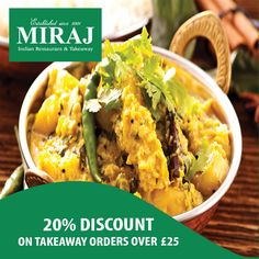 Miraj Indian offers delicious Indian Food in Biscot, Luton Browse takeaway menu and place your order with ChefOnline. Indian Food Recipes, Ethnic Recipes, A Table, Curry, Menu, Delivery, Restaurant, Fresh
