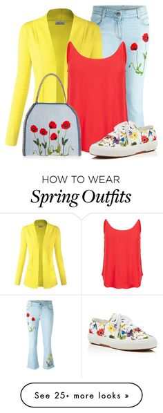 """""""Sweater for Spring"""" by ajspragu02 on Polyvore featuring STELLA McCARTNEY, BA&SH and Superga"""