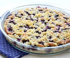 Recepty - Dezerty: Borůvkový koláč sdrobenkou Oatmeal, Sugar, Breakfast, Desserts, Cakes, Shape, The Oatmeal, Morning Coffee, Tailgate Desserts
