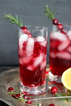 Cranberry Rosemary Gin Cocktail