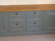 Consider oak top to painted drawers