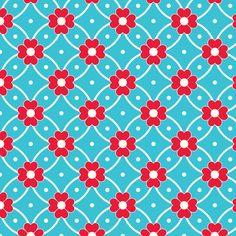Nursery Fabric: In Wonderland: Heart Flowers fabric by jazzypatterns on Spoonflower - custom fabric $18