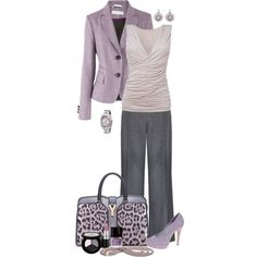 Lavender Leopard by chrissykp on Polyvore featuring Phase Eight, St.Emile, Alexon, ASOS, Yves Saint Laurent, Breil, Pandora, Smashbox, MAC Cosmetics and Butter London