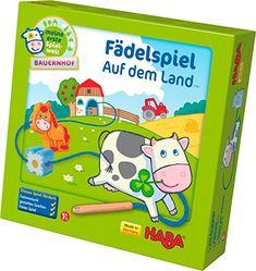 Haba 5580 - Meine erste Spielwelt Bauernhof - Fädelspiel auf dem Land: Amazon.de: Spielzeug