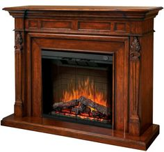 Dimplex - Home Page » Fireplaces » Mantels » Products » Torchiere Electric Fireplace