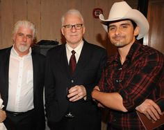 Michael McDonald Photos Photos - *EXCLUSIVE*  Singer/Songwriter Michael McDonald, Comedian/Musician Steve Martain and Singer/Songwriter Brad Paisley pose backstage at the GRAMMY salute to Country Music honoring Vince Gill hosted by The Recording Academy at The Loveless Barn on September 9, 2009 in Nashville, Tennessee. - Recording Academy Hosts GRAMMY Salute to Country Music Honoring Vince Gill