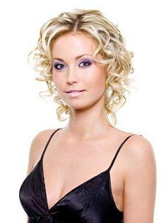 Blonde Curly Hairstyle for Fine Hair