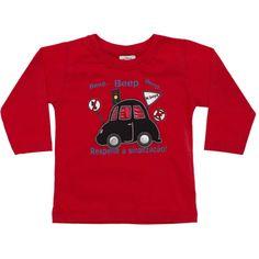 Camiseta Infantil Masculina Carrinho Vermelha - Nini & Bambini :: 764 Kids | Roupa bebê e infantil