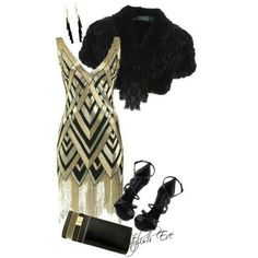 Love the Great Gatsby inspired dress!