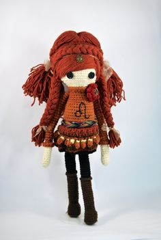 LEO Zodiac Crochet Art Doll lion mixed media by CreativeChaosMNL